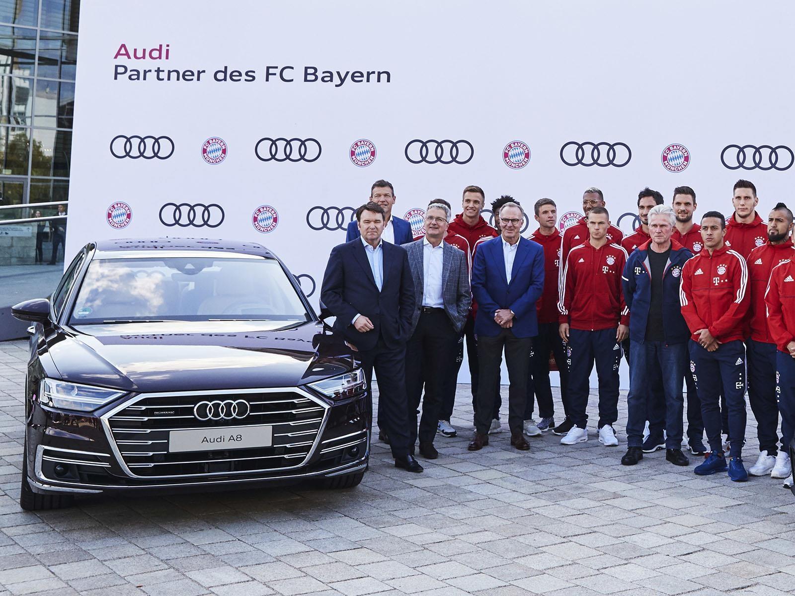 Los jugadores del Bayern Münich se dieron una vuelta por Audi