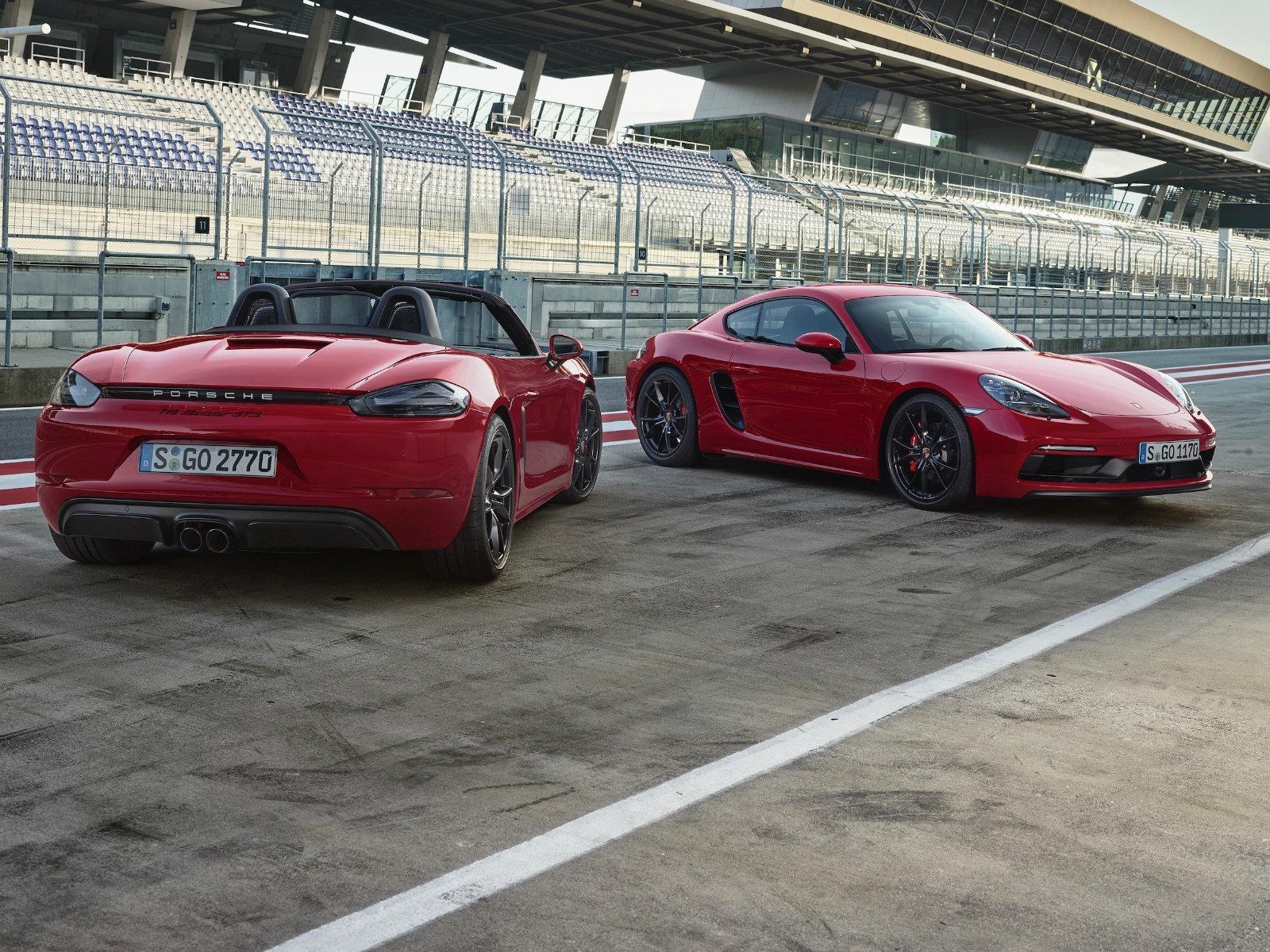 Porsche 718 Boxster GTS y 718 Cayman GTS llegan con más potencia y equipamiento