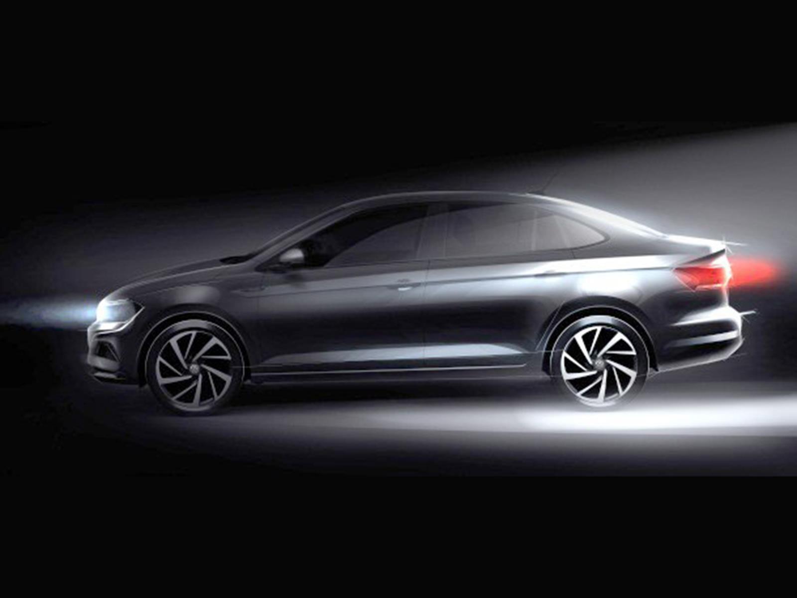 Este es el primer teaser del Volkswagen Virtus