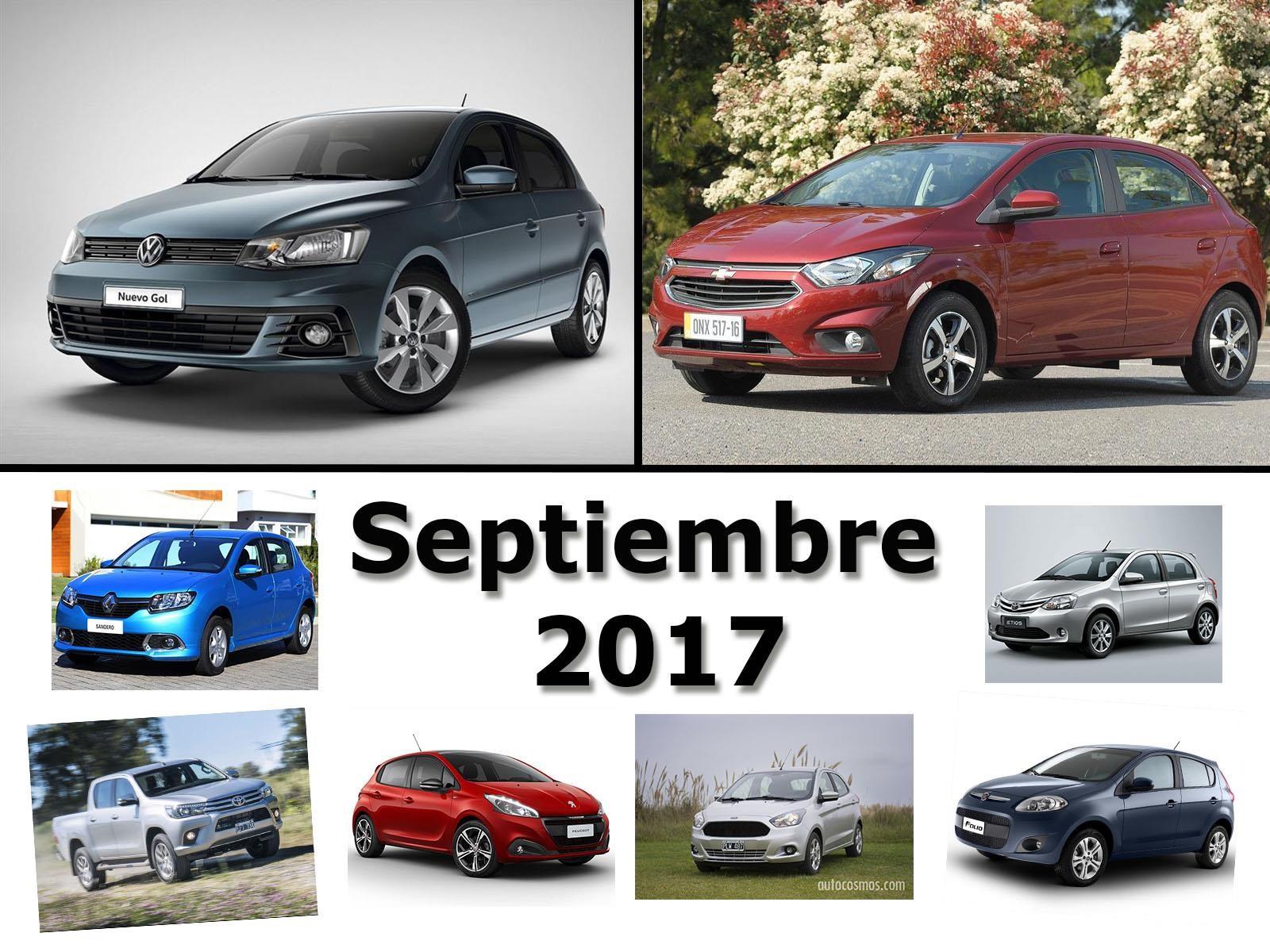 Los 10 autos más vendidos en Argentina en septiembre de 2017