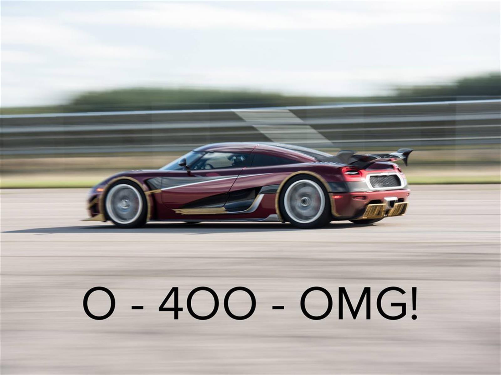 Bugatti Chiron es superado por el Koenigsegg Agera RS en el 0-400-0 km/h