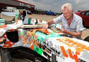 Force India y Dexter Brown hacen un F1 de arte