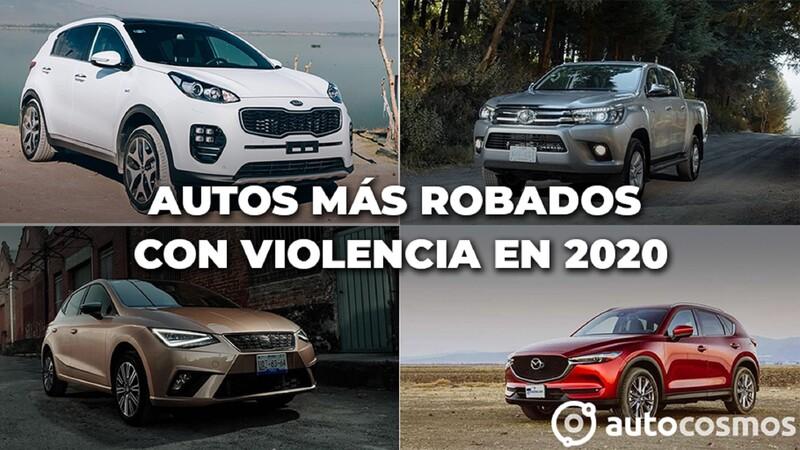 Los vehículos más robados con violencia en México durante 2020