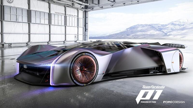 Team Fordzilla P1 es un espectacular auto de carreras virtual creado por Ford