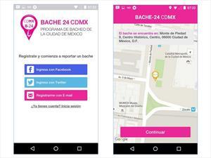 Bache24, la app para reportar los baches de la CDMX