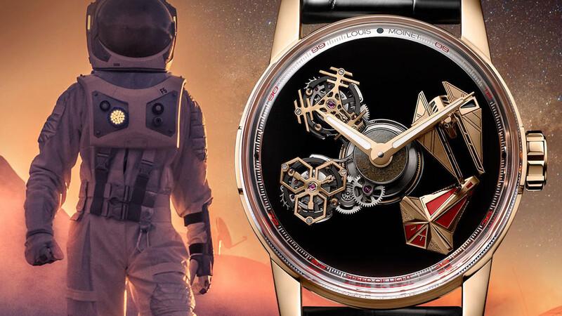 Louis Moinet presenta un reloj que incluye material interestelar