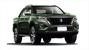 Así luce parte de la nueva pick-up de Peugeot