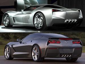 Chevrolet Corvette C7, las diferencias comparado con el concepto