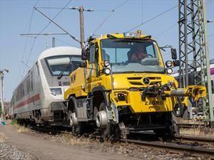Mercedes-Benz Unimog también es un camión extremo para las vías de tren