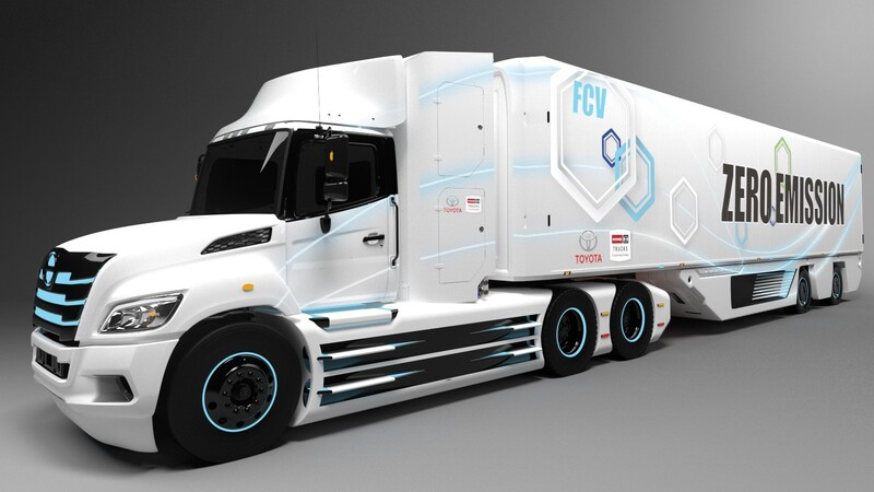 Toyota trabaja en un camión con acoplado de hidrógeno