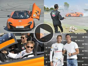 Jenson Button Vs.Cristiano Ronaldo drifteando un McLaren