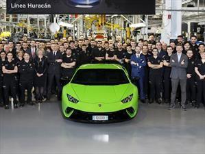Lamborghini Huracán llegó a las 10.000 unidades
