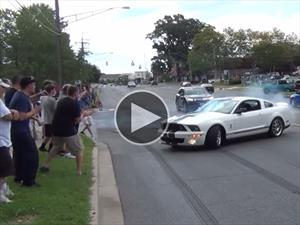 Inadmisible accidente de un Mustang Shelby GT500
