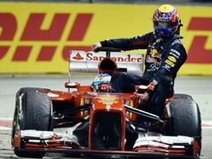 """F1: Webber castigado por tomar """"aventón"""" de Alonso en Singapur"""