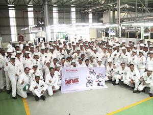 Honda llega a las 500,000 motos producidas en México