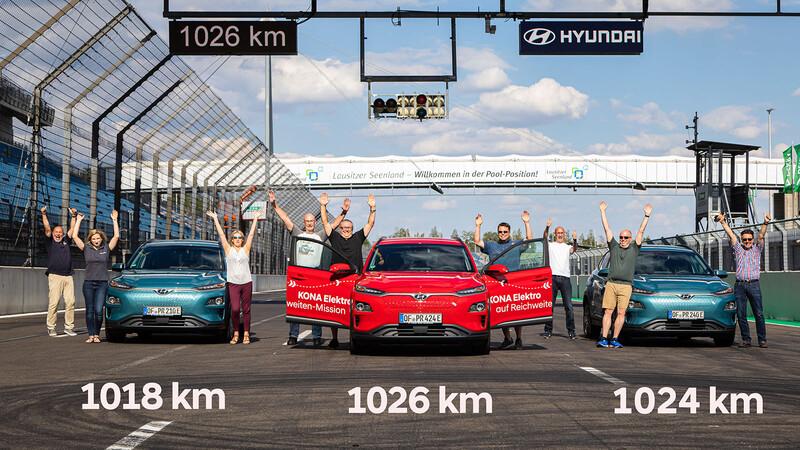 Hyundai Kona eléctrico alcanza autonomía record de 1.000 kilómetros en una sola carga