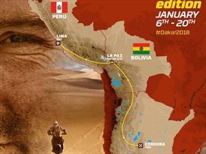 Así queda la ruta del Dakar 2018