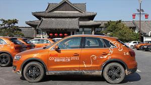 El Audi Q3 Trans China Tour 2011 cruza la línea de meta