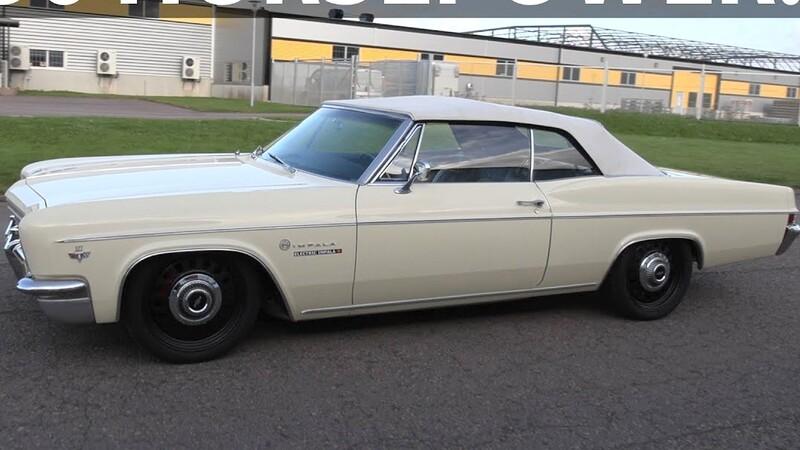Este Chevrolet Impala 1966 es convertido en auto eléctrico con los motores del Tesla Model S