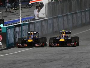 F1, GP de Malasia ganan: Vettel y Webber de Red Bull
