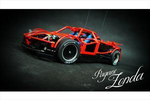 Pagani Zonda construido con piezas de LEGO