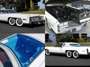 Un Cadillac Eldorado de 1977 con ocho ruedas y un jacuzzi