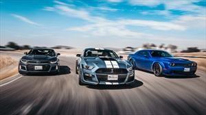 Chevrolet Camaro ZL1 vs Dodge Challenger Hellcat Redeye vs Ford Mustang Shelby GT500