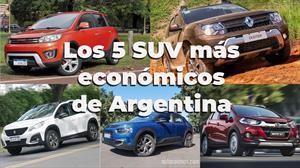 Los 5 SUV más económicos de Argentina