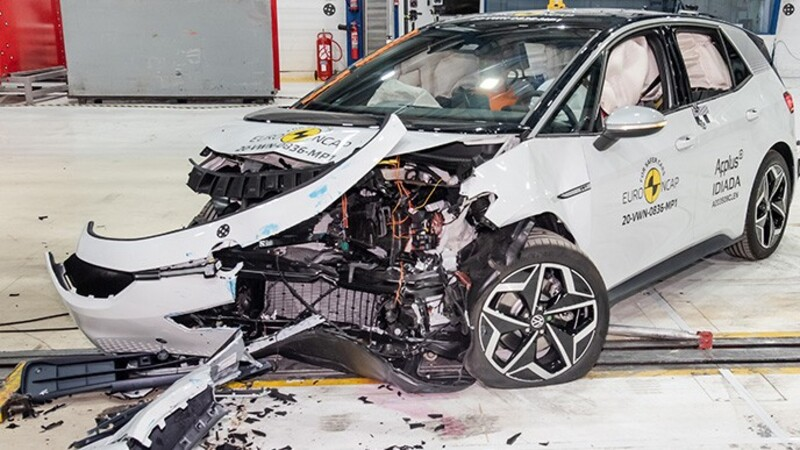 Volkswagen ID.3 recibió 5 estrellas en las pruebas Euro NCAP