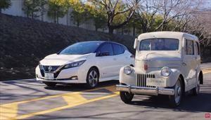 Tama y Leaf, los emblemáticos autos eléctricos de Nissan son puestos frente a frente