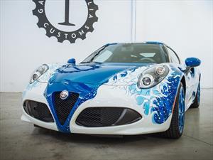 Alfa Romeo 4C Hokusai por Garage Italia Customs, arte sobre sobre ruedas