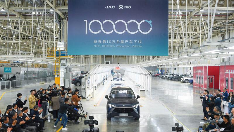 NIO alcanza las 100.000 unidades fabricadas