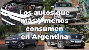 Los autos que más y menos consumen en Argentina