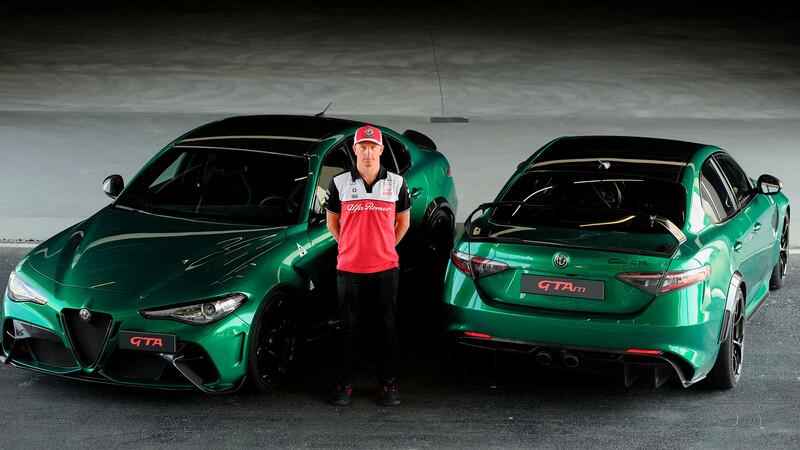 Kimi Räikkönen le da el visto bueno al Alfa Romeo Giulia GTAm que ayudó a desarrollar