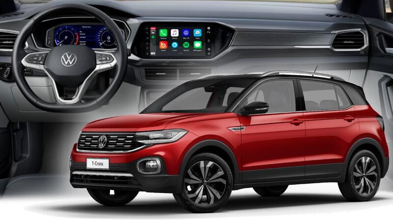 Volkswagen T-Cross suma instrumental digital de 8 pulgadas
