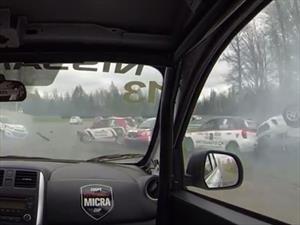 Video: Así se logra sobrevivir a un espectacular choque en cadena