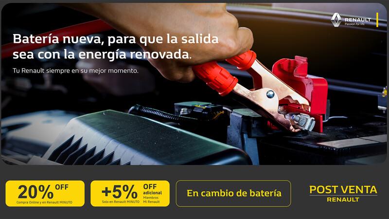 Renault Argentina ofrece a sus clientes 20% de descuento en baterías