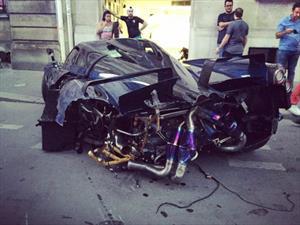 Pagani Huayra Pearl sufre accidente en París