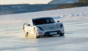 E-RA auto eléctrico recorre pista de hielo a 252 Km/h