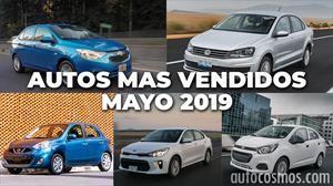 Los 10 autos más vendidos en mayo 2019