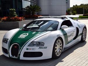 Bugatti Veyron vestido de patrulla en Dúbai, ¡sí existe!