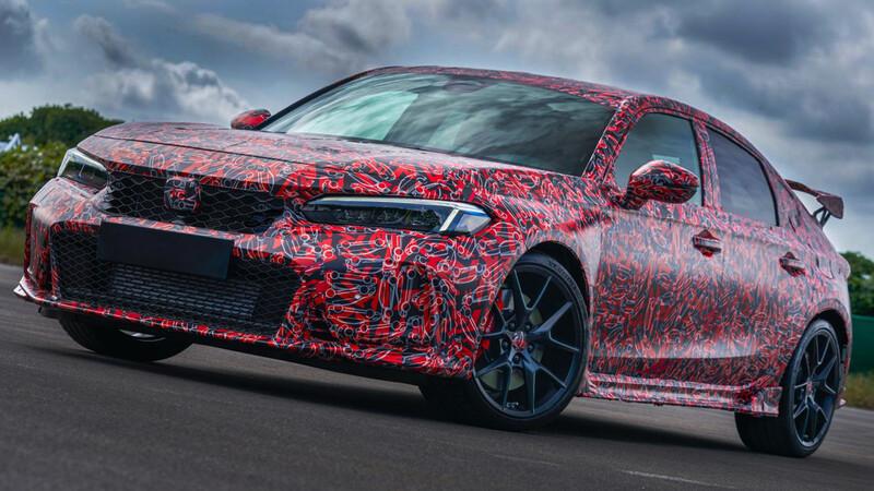 """Honda Civic Type R 2022 afina detalles y se """"destapa"""" un poco más"""
