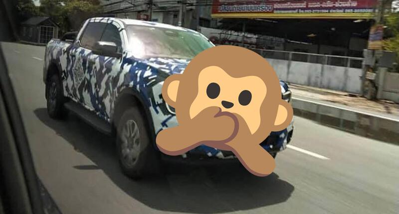 Nueva Ford Ranger espiada con su frente casi al desnudo