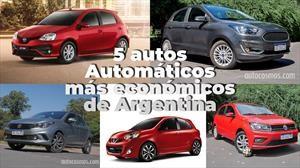 Los 5 autos automáticos más económicos de Argentina