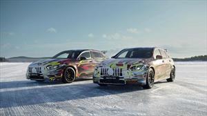 Mercedes y AMG siguen probando los prototipos del A45 en la nieve