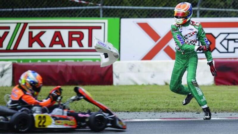 Le tiró un pedazo de karting a un rival y recibió 15 años de suspensión