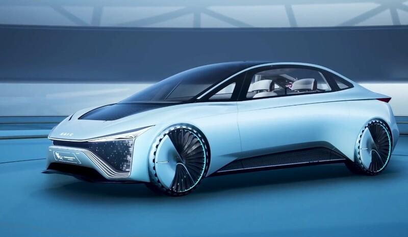 SAIC Motor Kun Concept es un auto eléctrico de conducción autónoma en tierra, aire y agua