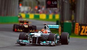 F1, GP de Australia: Schumi no se queda atrás