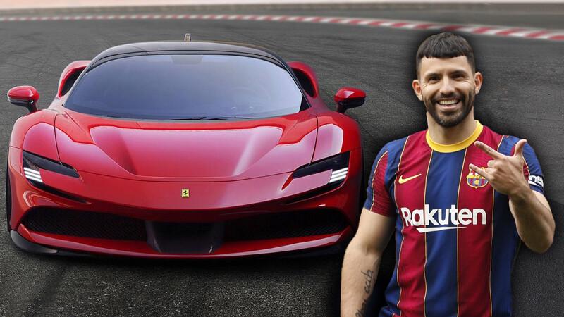 El Kun Agüero se compró la Ferrari más potente de todas