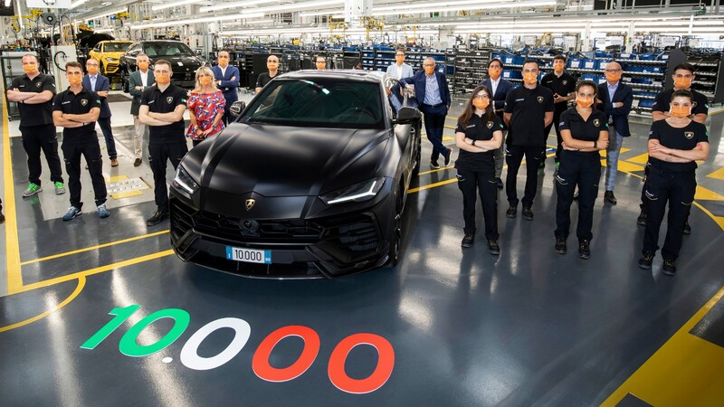 Lamborghini suma 10,000 unidades producidas del Urus